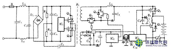 旅充充电器原理电路如图下所示