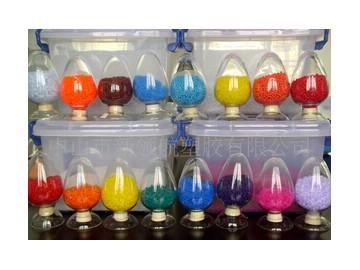 自产自销各种颜色的环保PVC胶粒 彩色PVC胶粒