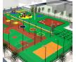 天津网球场地施工_专业建设硅PU网球场地