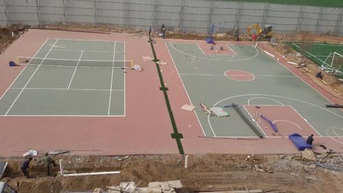 天津体育场地施工_体育场地铺设