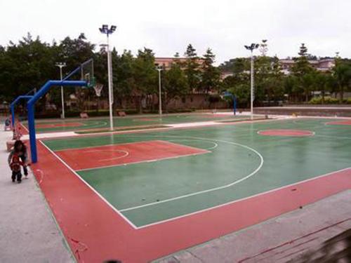 天津硅PU篮球场施工_硅PU篮球场铺装