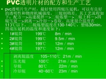 PVC透明片材配方
