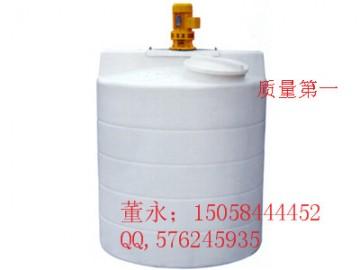 盱眙500L塑料加药箱\500L耐酸碱PE搅拌桶厂家直销