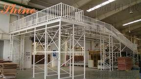 正耀閣樓倉儲貨架二層鋼結構平臺定做啟動