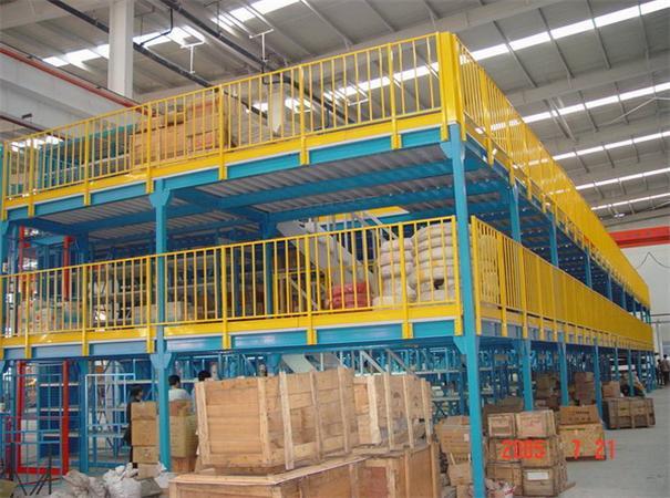 沧州货架厂定做二层阁楼式货架