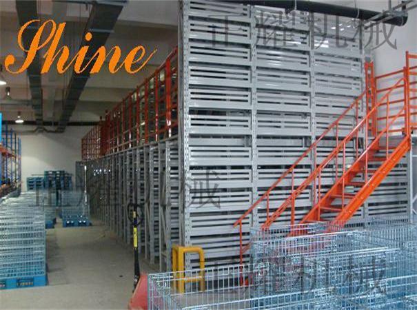 北京二层阁楼式货架可配各种工装使用