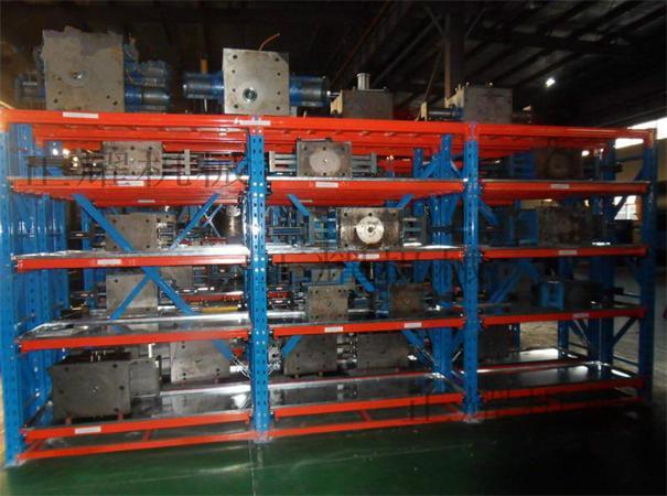 重型模具貨架承重5噸,抽屜打開。