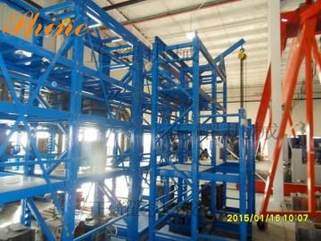 西安模具貨架廠 正耀定做西安模具貨架 配有移動式葫蘆小車