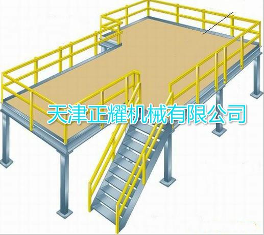 钢平台 阁楼式货架 结构图