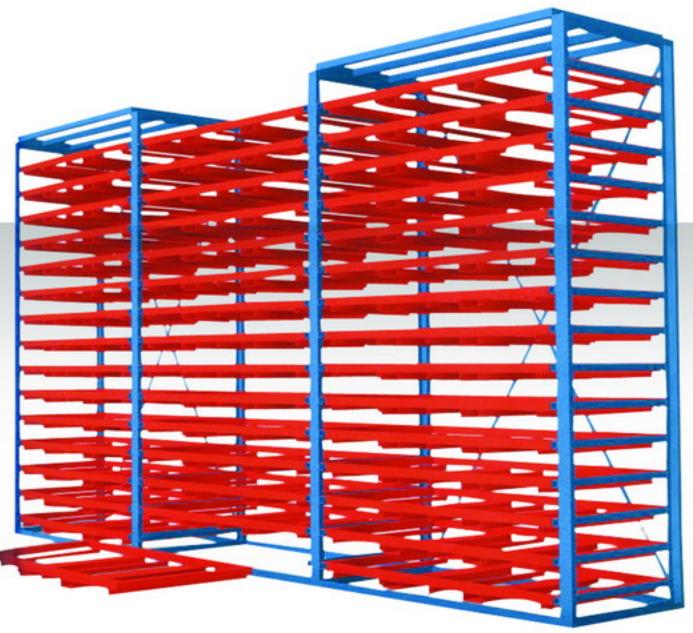 板材货架可存放各种类型的板材 如木板 钢板 薄板 塑料板 亚克力板