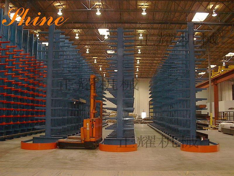 悬臂式放板材货架固定式结构