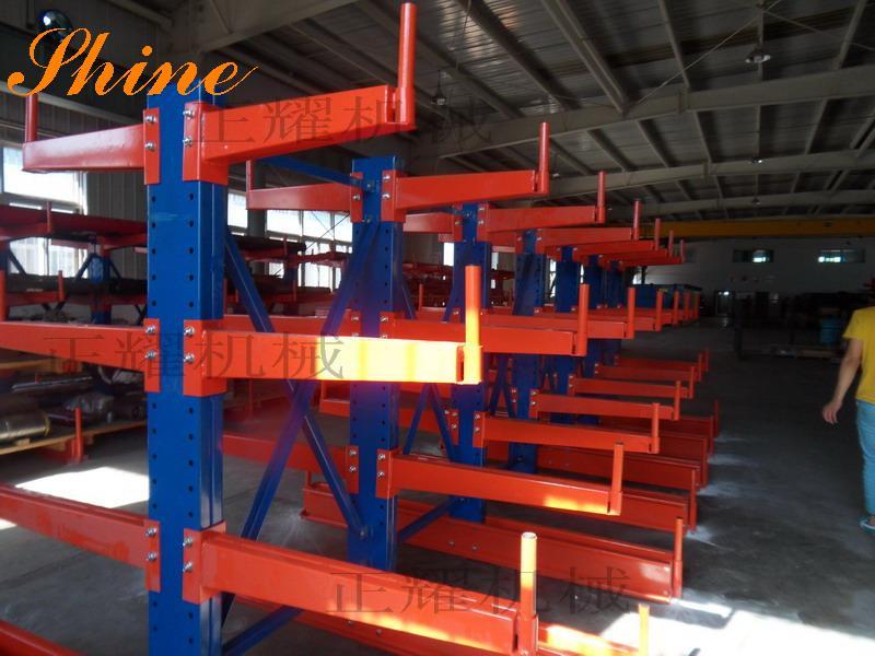 伸缩悬臂式放板材货架 100%拉出 直接存取板材