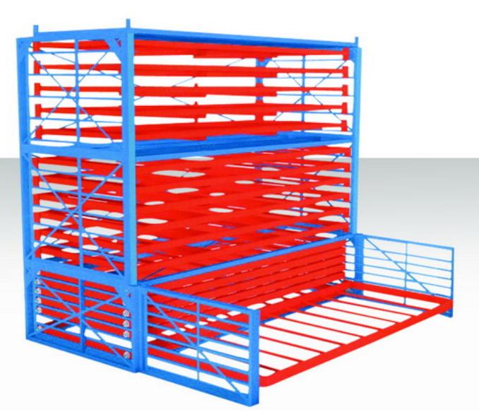 抽屉式放板材货架 节省空间 保护板材划伤 快速存取