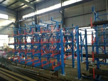 正耀山东管材货架 可伸缩式悬臂管材货架 长货物 长轴类存储