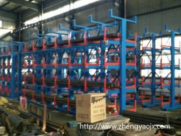 天津货架厂生产可伸缩悬臂式建材货架存储管材、板材、长轴类货物