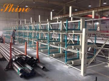 上海悬臂式管材货架 正耀100%伸缩 承重4吨