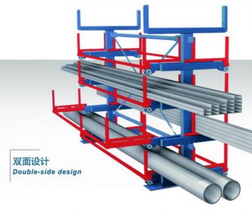 新型钢材存放架 正耀9736悬臂式重型钢材放置架 图片