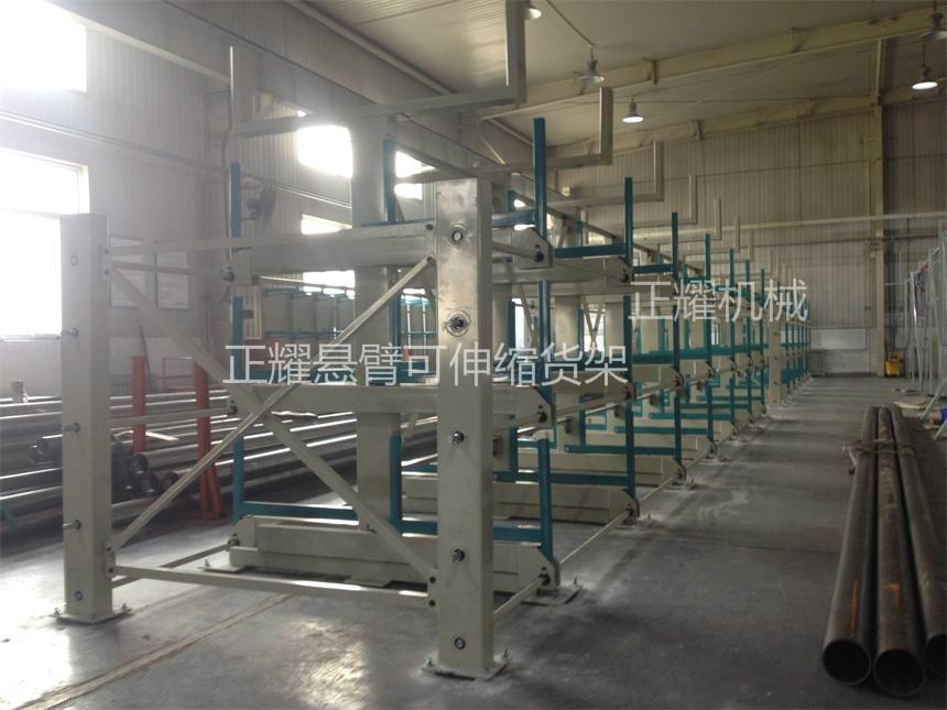 管材架子,伸缩悬臂式结构,100%拉出,节约空间,存储量大。