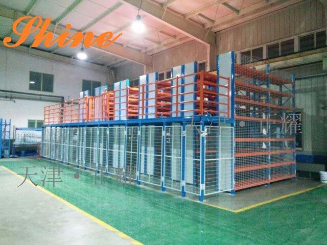 二层钢平台 结构简单 拆装方便