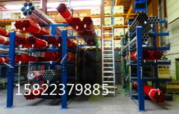 伸缩式悬臂圆管货架 圆管放置架 存放圆管的货架