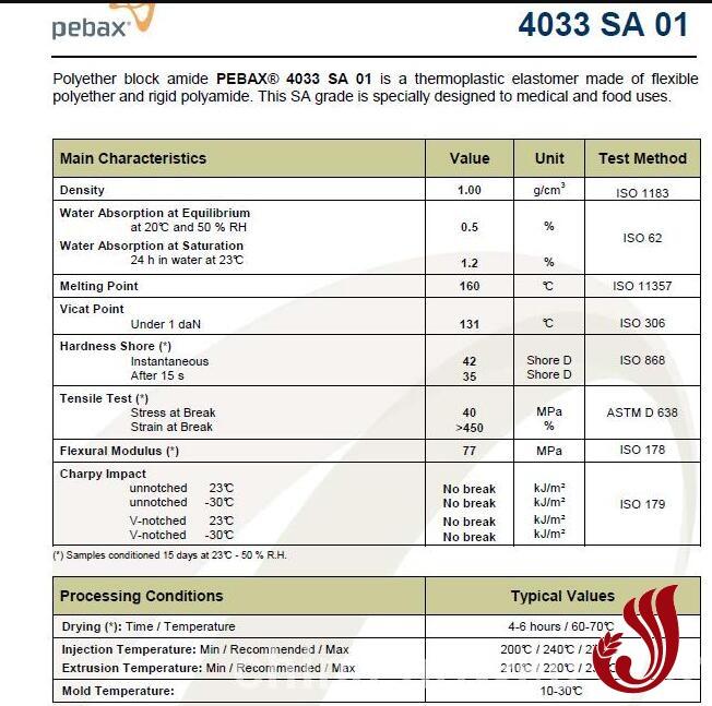 工业级PA12法国阿科玛4033 SP  01  4033