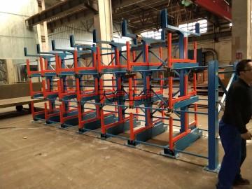 天津型材货架存放管材 棒料 轴 板 槽 钢材 原材料 长货物