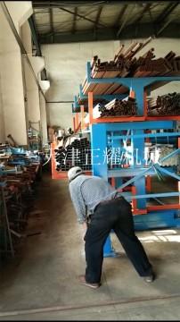 型材怎么存放方便切割机下料 伸缩悬臂式型材货架