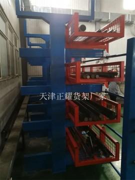 上海铜棒货架伸缩悬臂式行车存放6米、12米黄铜棒 紫铜棒