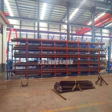 广西管材存放架 伸缩悬臂式管材货架 行车存放架