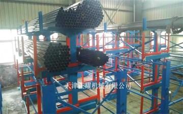 江苏移动式管材货架行车管材存放架专业管材仓库货架
