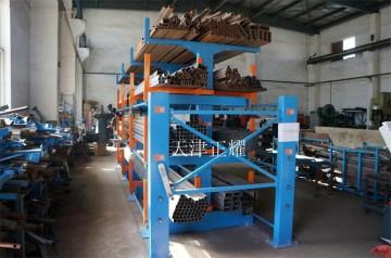 福建管材货架伸缩悬臂式钢管货架 管材存放架使用行车吊取