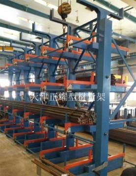 江苏手动摇出式管材货架 6米管材钢管型材钢材专用货架