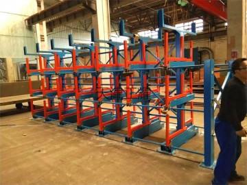 多层拉出式管材存放架结构 伸缩悬臂式设计 钢管产品必用货架