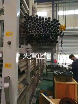 浙江嘉兴伸缩悬臂式结构管材货架 放钢材钢管的货架图片