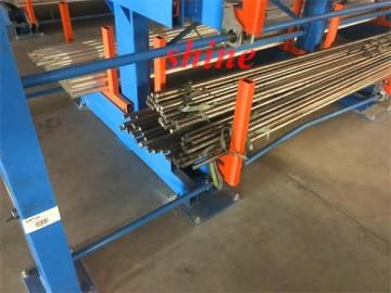 铝棒存放架 新款吊车存放铝棒货架 铜棒货架图片