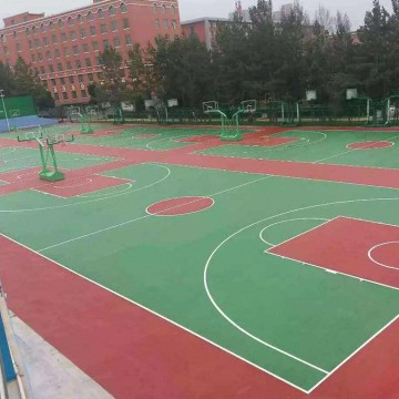 天津硅pu篮球场