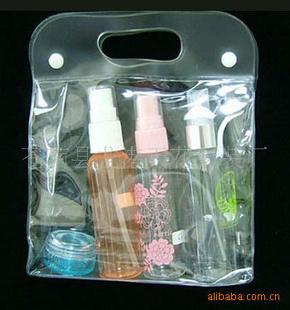 热销精品 塑料PVC膜化妆品促销包装袋 PVC手提袋 高清图